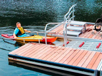 Our ADA transfer platform is available as an option on our launch dock systems or can be sold separately and mount to your existing dock