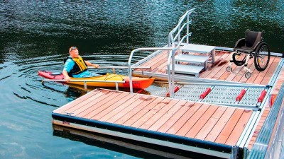 Available as an option on our launch dock systems or can be sold separately and mount to your existing dock.