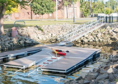 Commercial kayak launch dock for the City of Hudson, NY