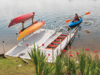 Safe and easy kayak launch from your dock or shoreline