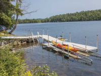 Our freestanding kayak launch dock can be integrated into our aluminum leg docks