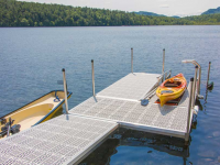 Our freestanding kayak launch dock is ideal for controlled bodies of water with minimal fluctuation