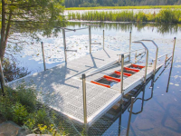 Kayak launch port for easy and safe kayak launching on your pond or lake