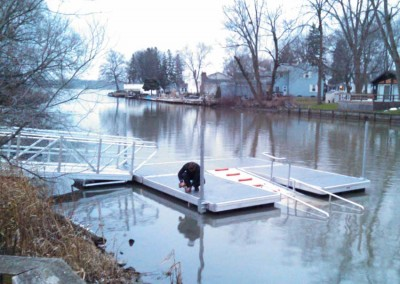 Installation of kayak launch system at Griffin Park, on the Niagara River, Niagara Falls, NY