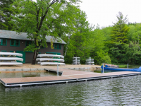Paddle dock at YMCA summer camp