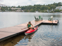 Paddle dock on Mirror Lake, Lake Placid, NY