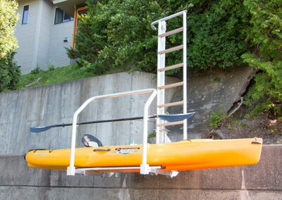 Kayak Lift and Launch (model KLL-100) shown in raised position