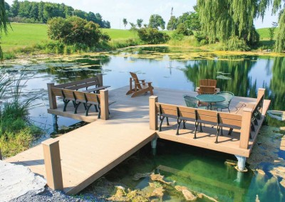 Custom pile dock as an alternative to a pond dock