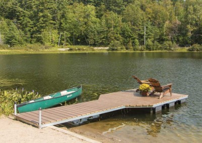 4' x 20' pond dock with NyloDeck decking