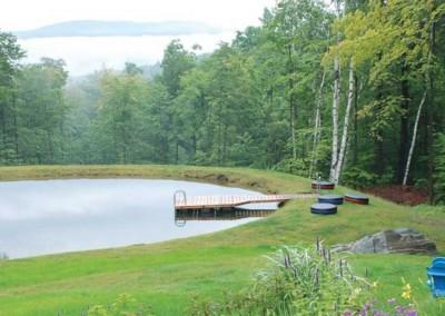 4' x 20' pond dock with cedar decking
