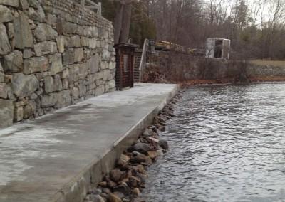 Concrete seawall repair