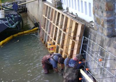 Concrete seawall refacing