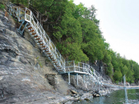 Steel stair system for cliffside water access