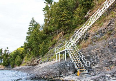 Cliff stairs for beach access