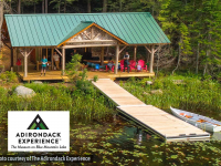 Paddle dock at The Adirondack Experience Museum in Blue Mountain Lake, NY (photo courtesy of The Adirondack Experience)