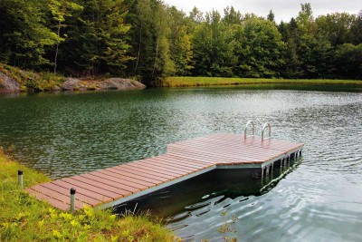 4' × 20' Pond Dock with composite decking